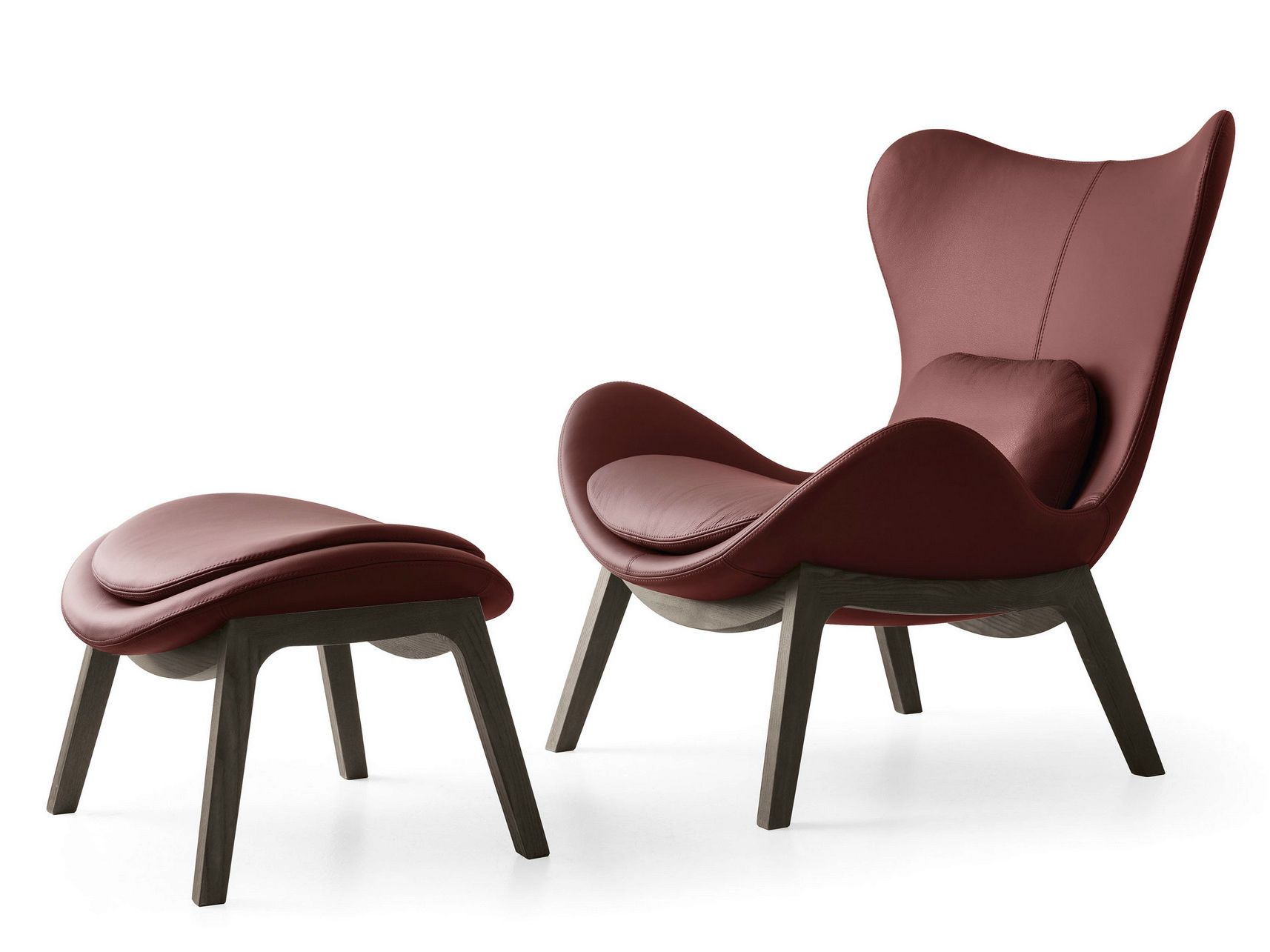 Repose pieds en cuir lazy collection fauteuils relax by for Poltrona lazy calligaris