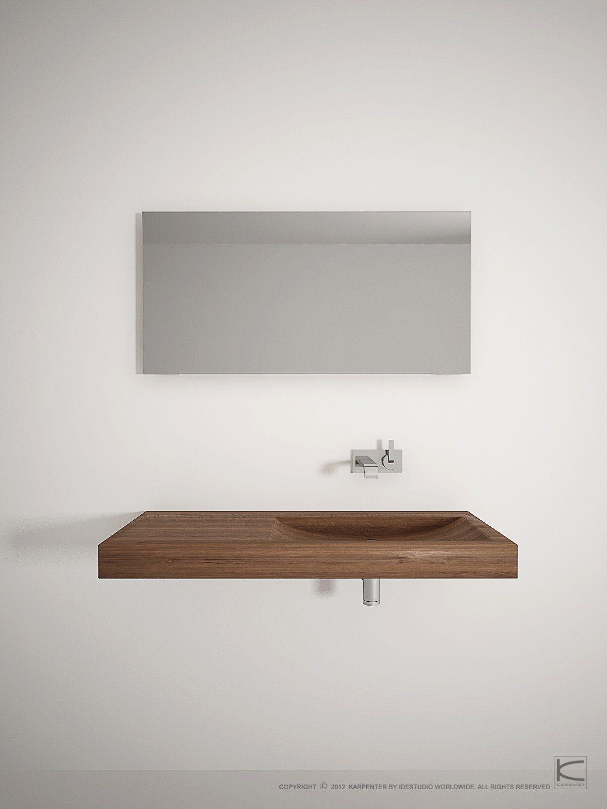 Lena specchio per bagno by karpenter design hugues revuelta for Layout rettangolare per bagno