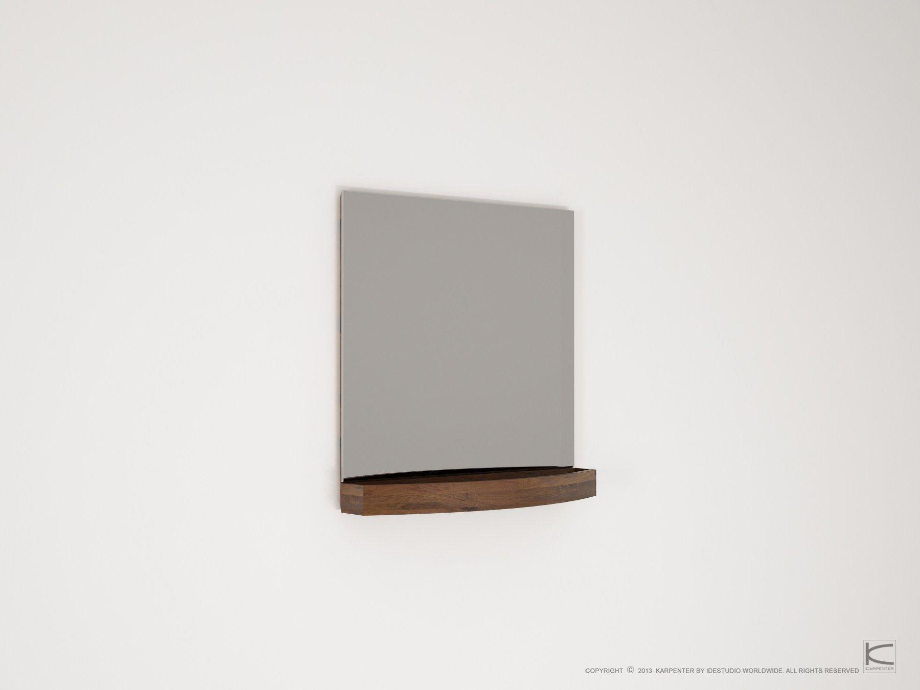 Miles specchio quadrato by karpenter design hugues revuelta - Specchio bagno legno ...