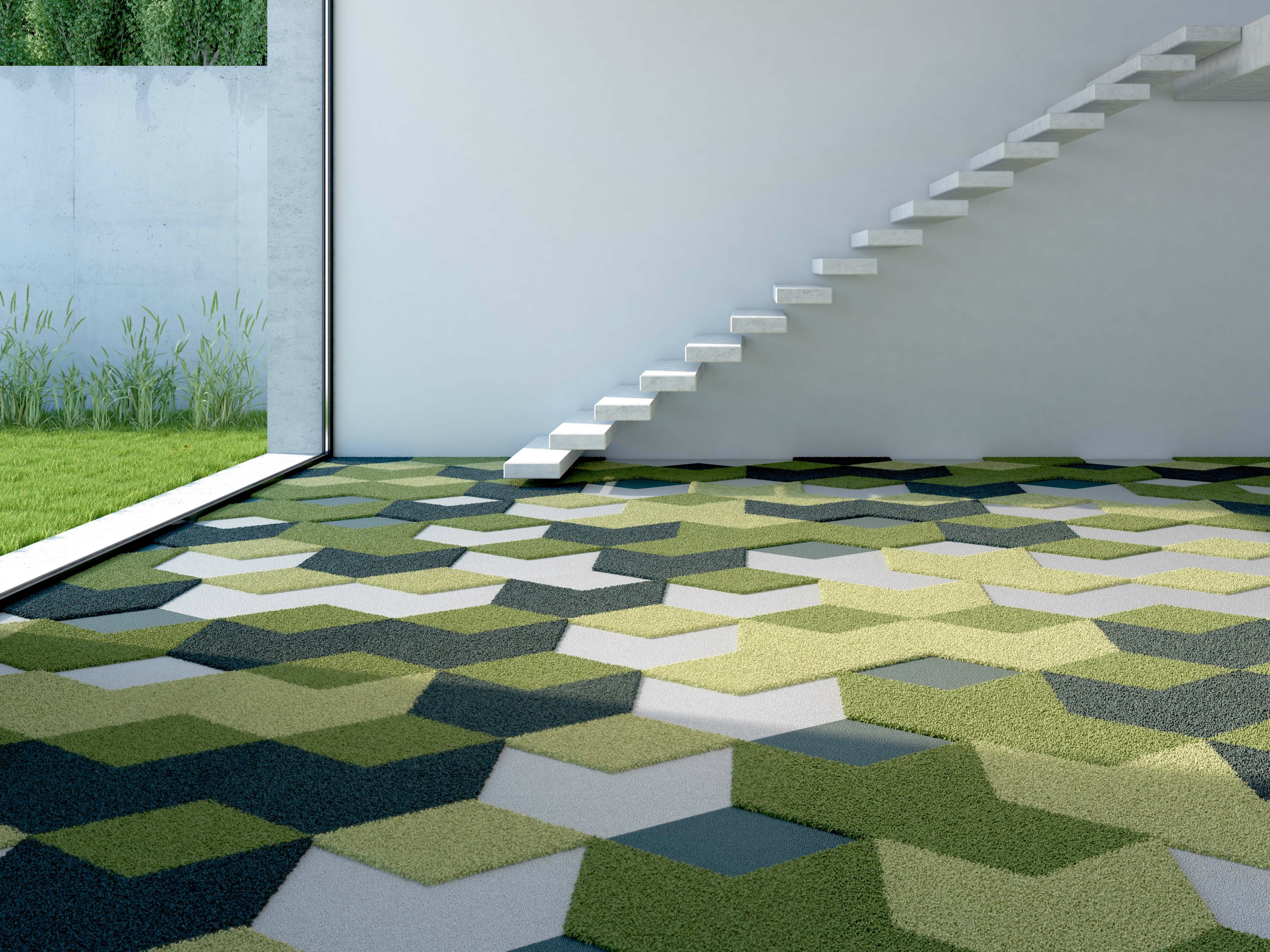 Moquette tapis darts diamonds by vorwerk teppichwerke for Moquette geometrique
