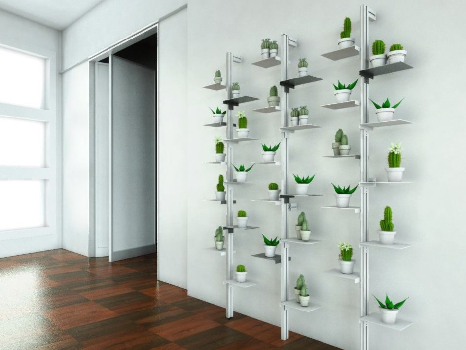 Giardino verticale mr green by studio t for Portavasi da interno