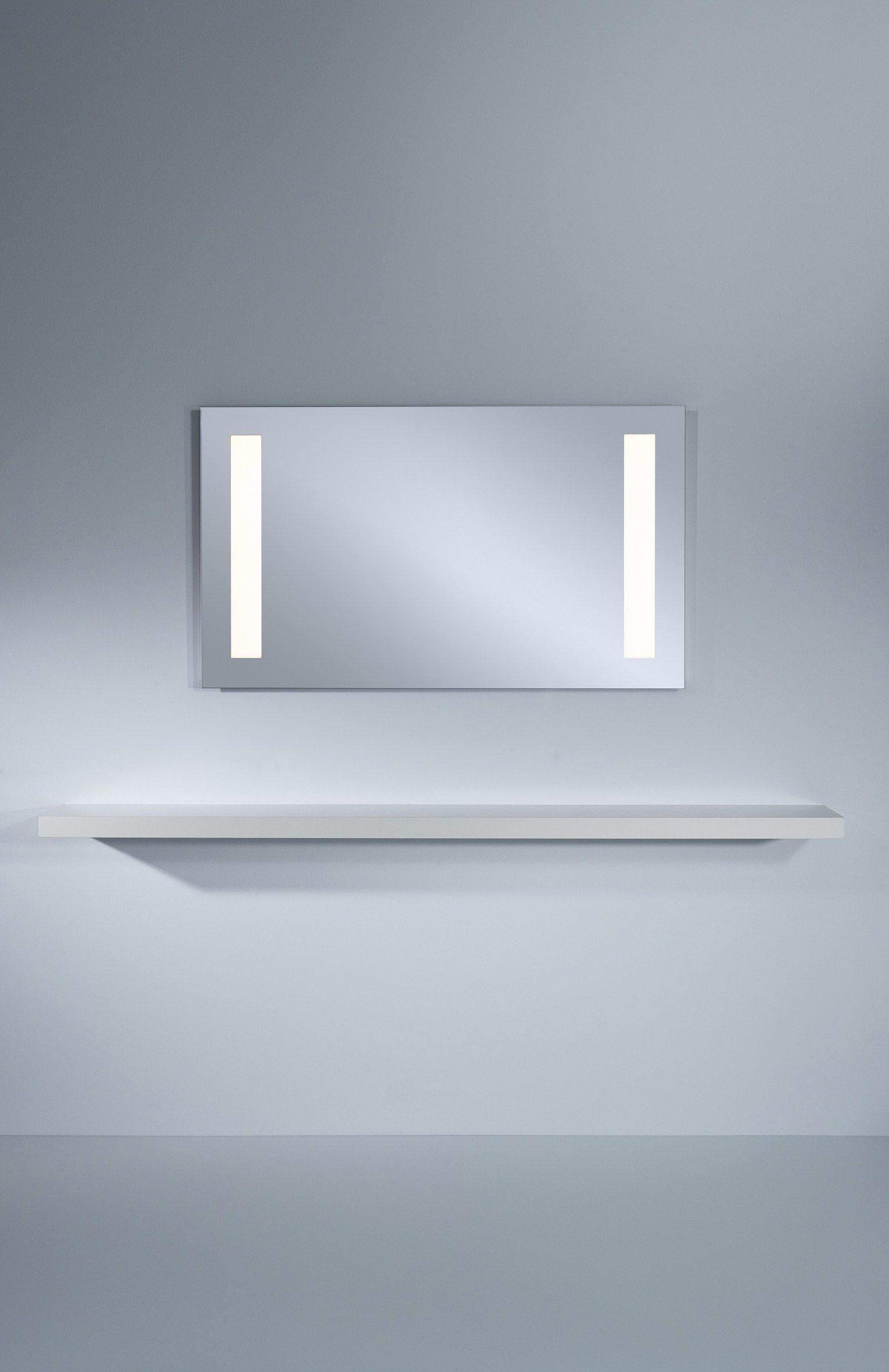 Miroir mural avec clairage int gr b pure by deknudt mirrors for Miroir mural