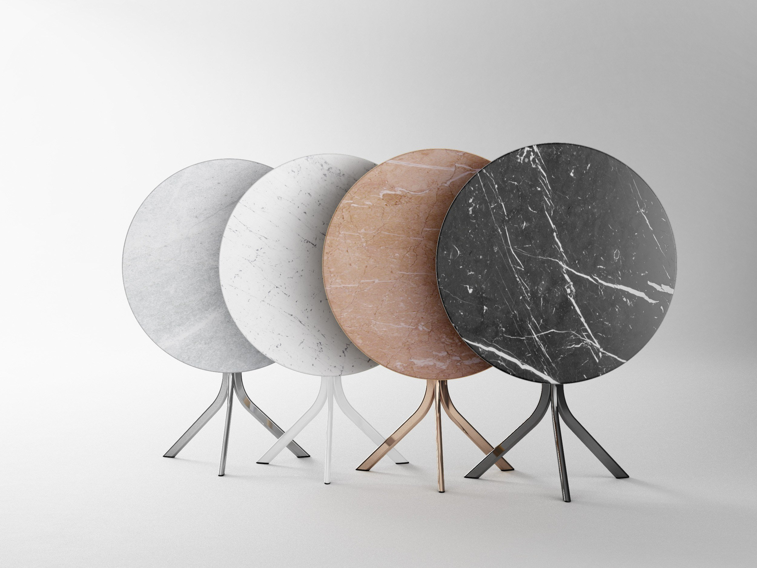Bistro marble table by retegui design jean louis iratzoki - Table de bistrot en marbre ...