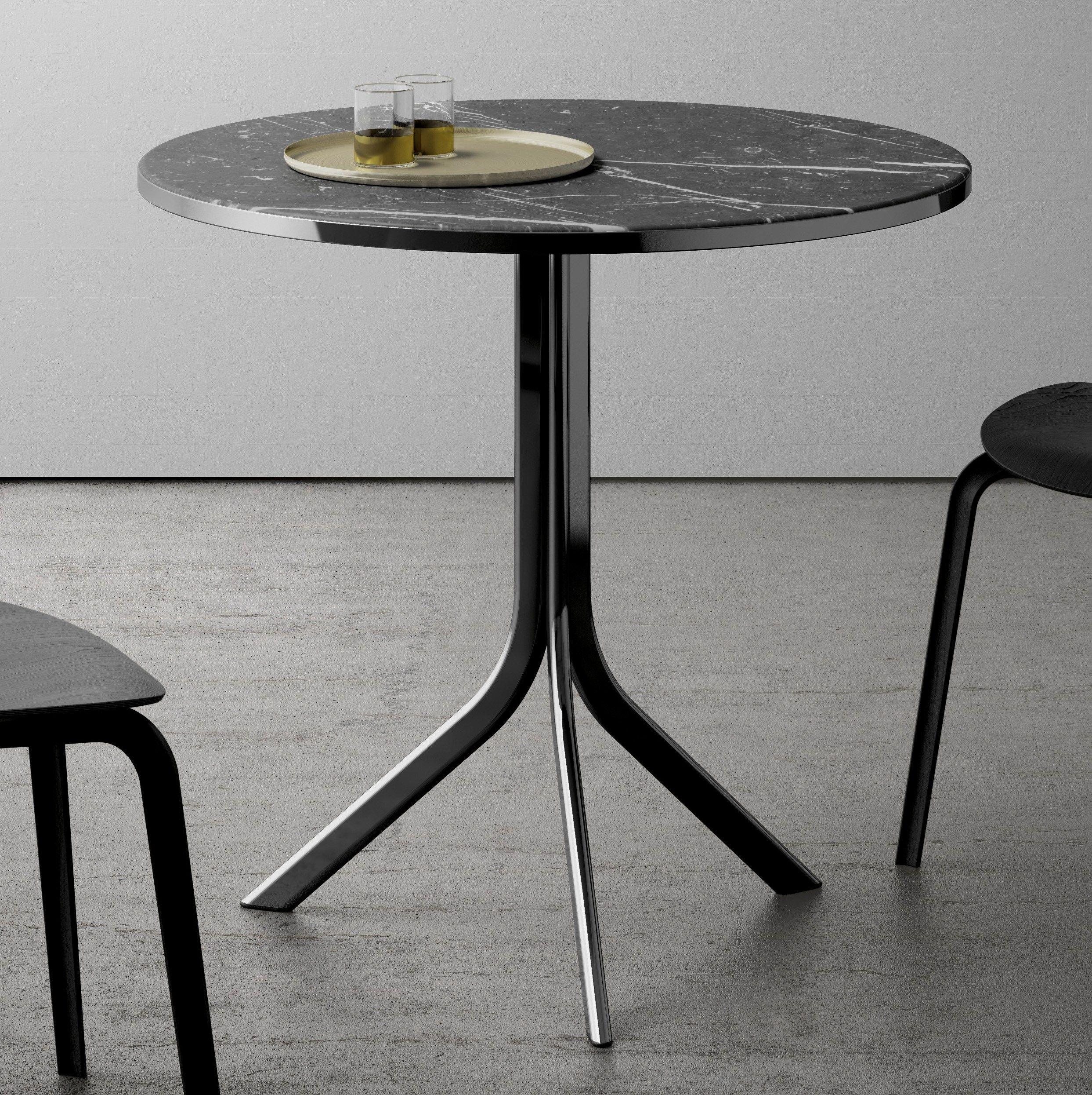 bistro tisch aus marmor by retegui design jean louis iratzoki. Black Bedroom Furniture Sets. Home Design Ideas