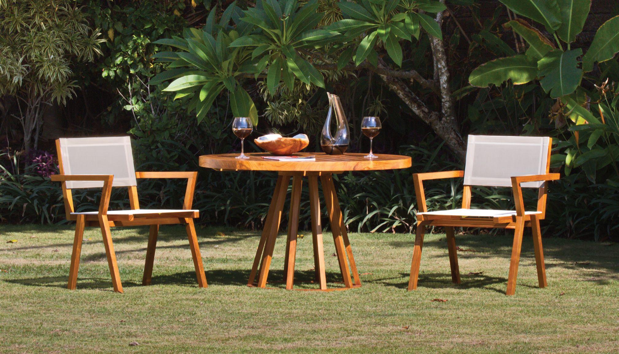 Tavolo da giardino da pranzo rotondo in teak bella for Tavolo rotondo ristorante