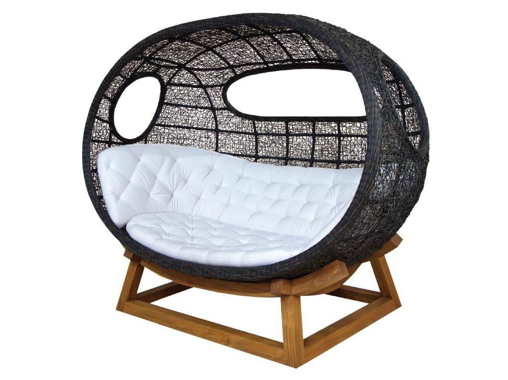 Canap igloo de jardin 3 places en rotin collection onda - Canape suspendu ...