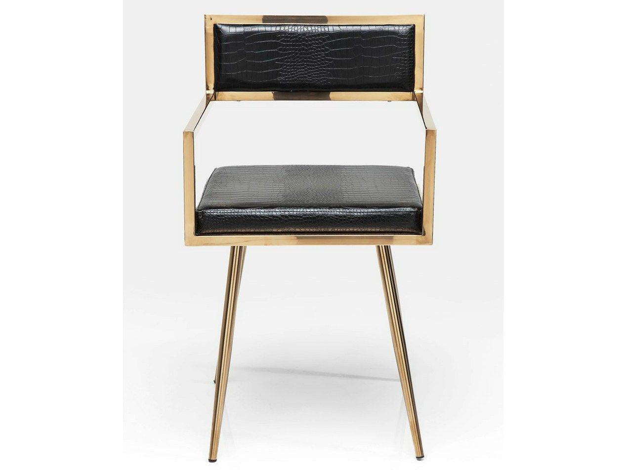 Gepolsterter stuhl aus leder mit armlehnen jazz by kare design for Stuhl kare design