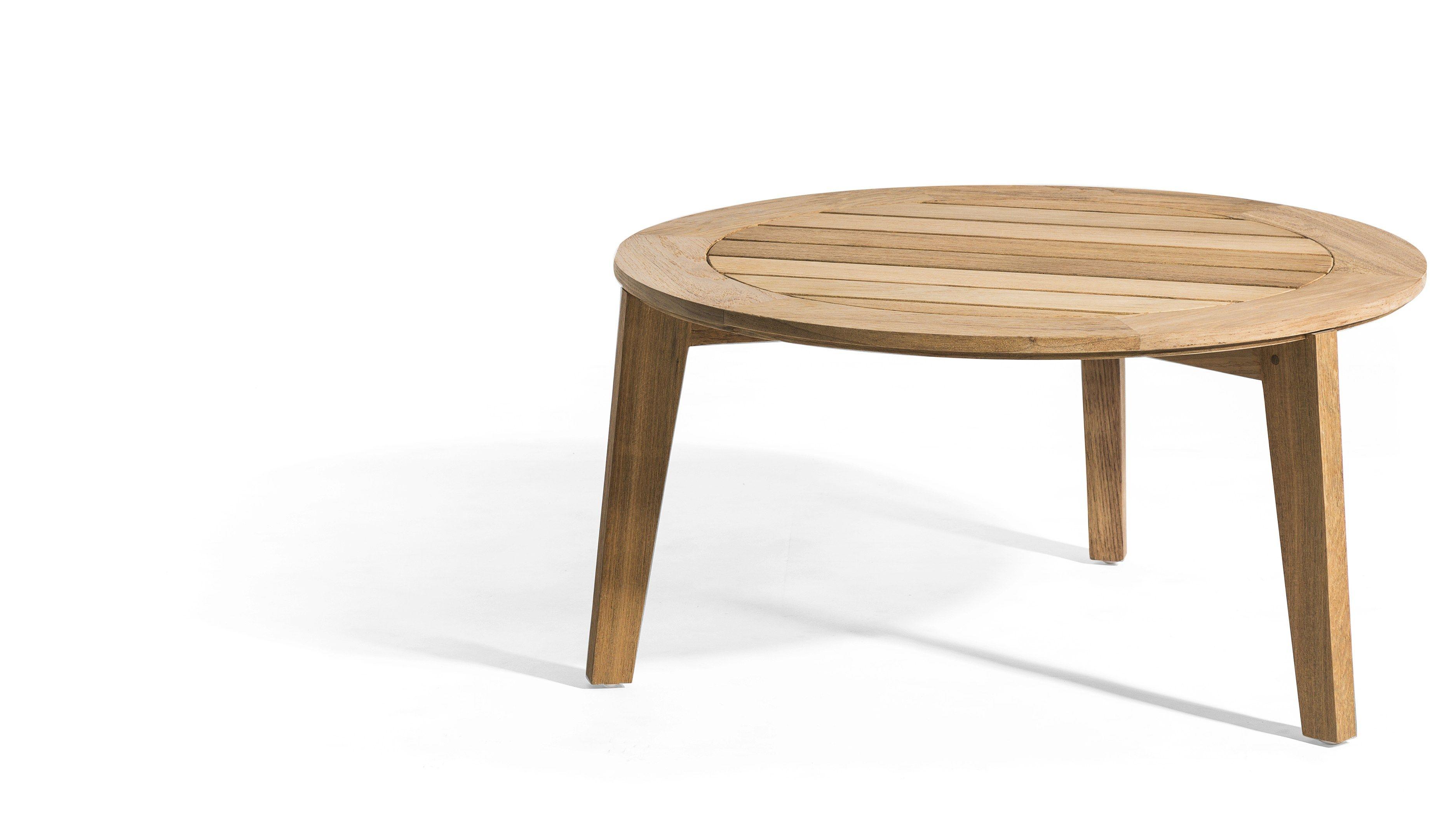 Attol teak coffee table by oasiq design hugo de ruiter for Table basse round