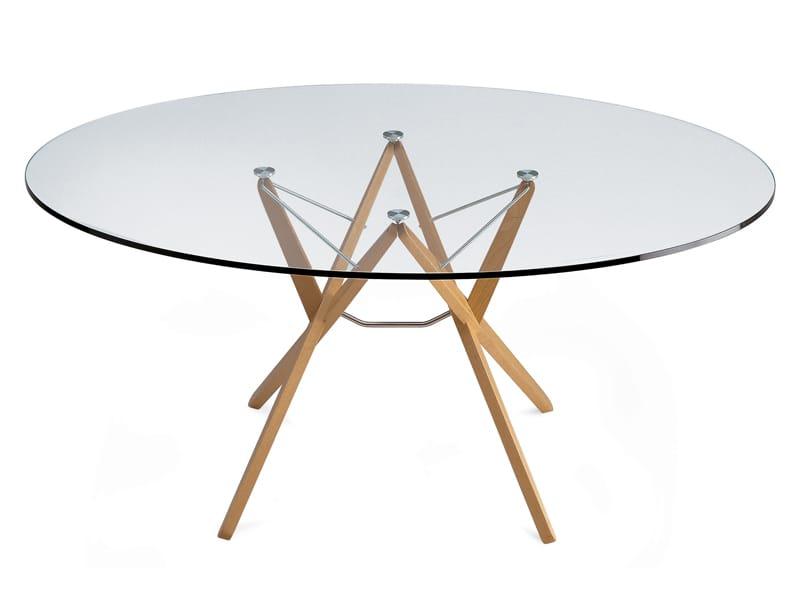 Tavolo In Cristallo Orione By Zanotta Design Roberto Barbieri