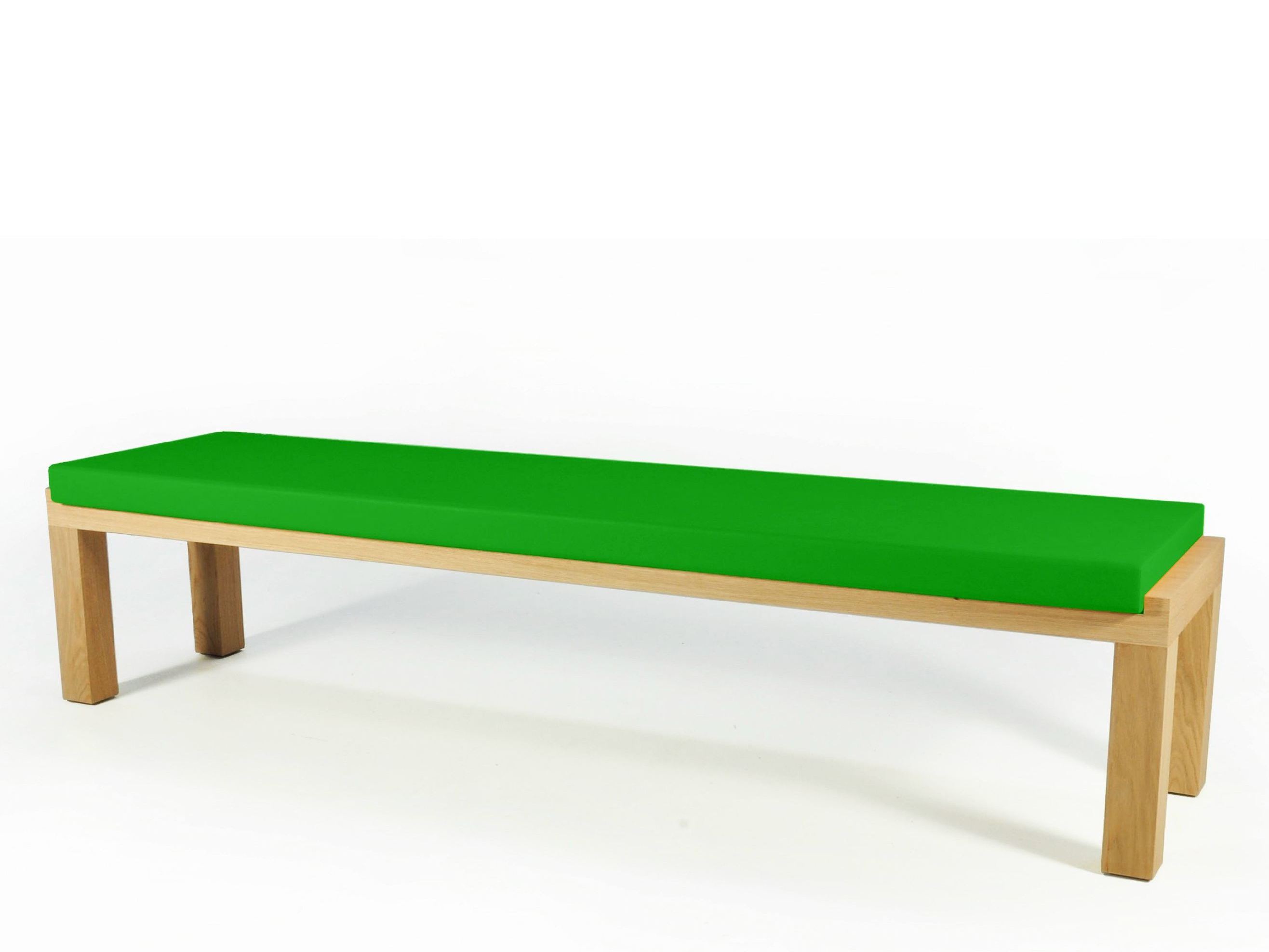 Camping bench 250 upholstered bench by quinze milan - Como hacer un banco de madera ...