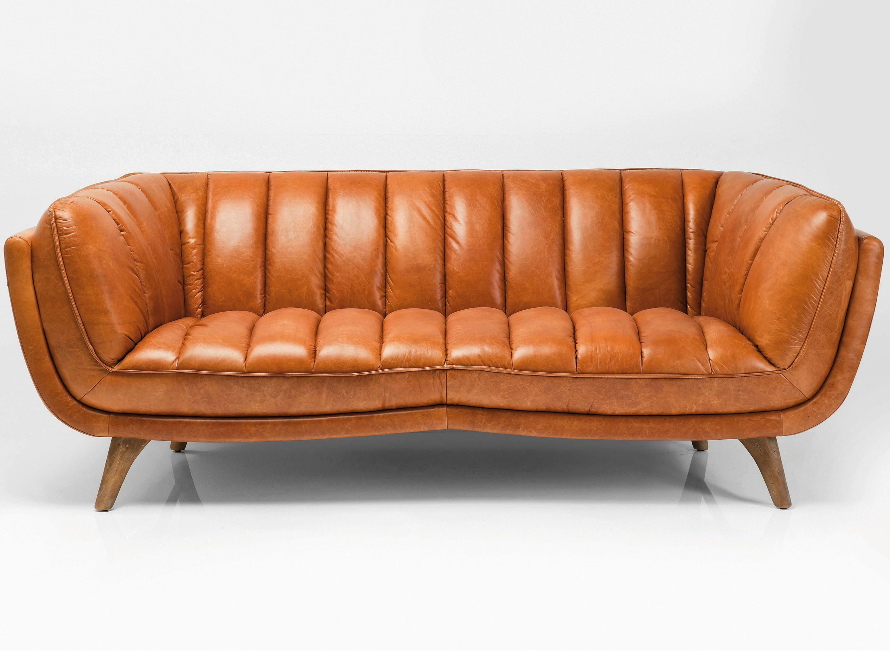 3 Seater Leather Sofa Bruno By Kare Design