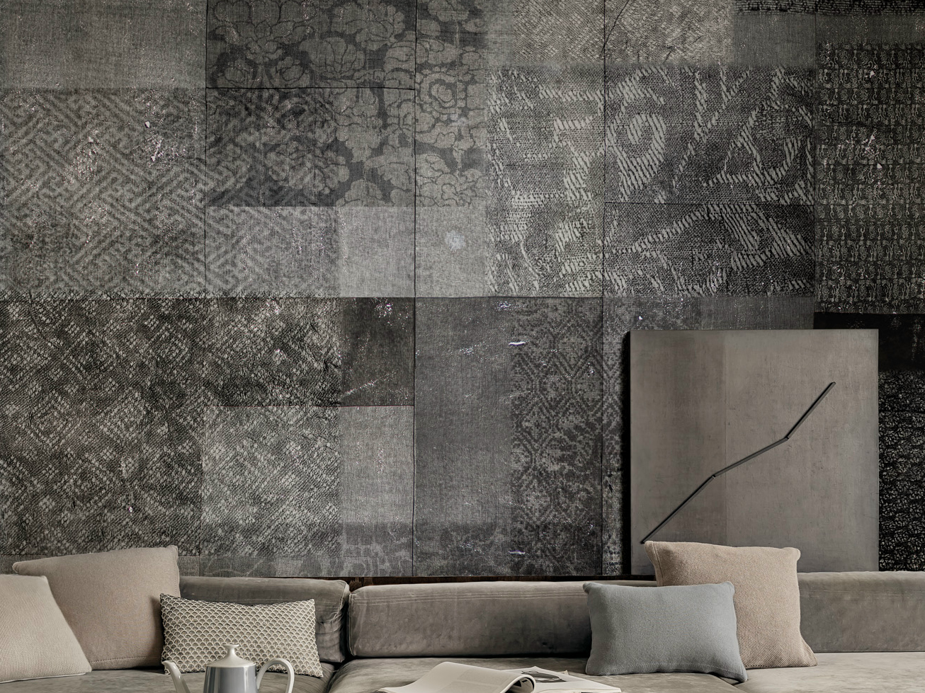 motif wallpaper ensemble by wall dec design lorenzo de grandis. Black Bedroom Furniture Sets. Home Design Ideas