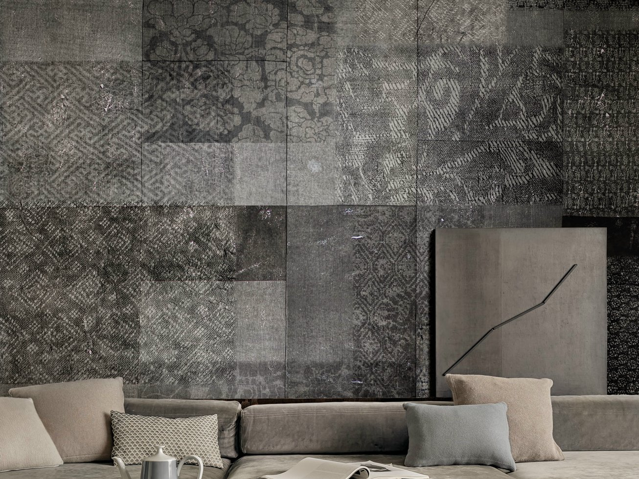 motif wallpaper ensemble by wall dec design lorenzo de. Black Bedroom Furniture Sets. Home Design Ideas