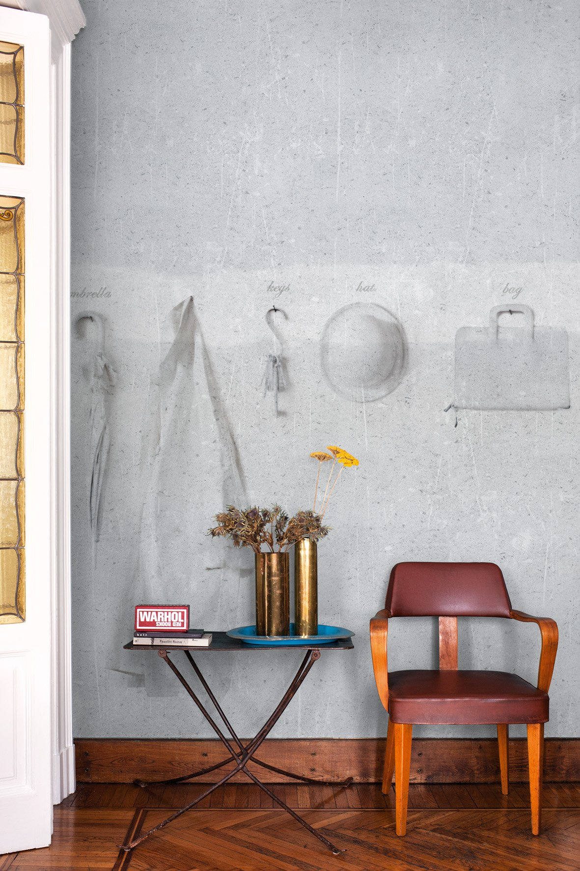 trompe l 39 oeil wallpaper ren by wall dec design christian. Black Bedroom Furniture Sets. Home Design Ideas
