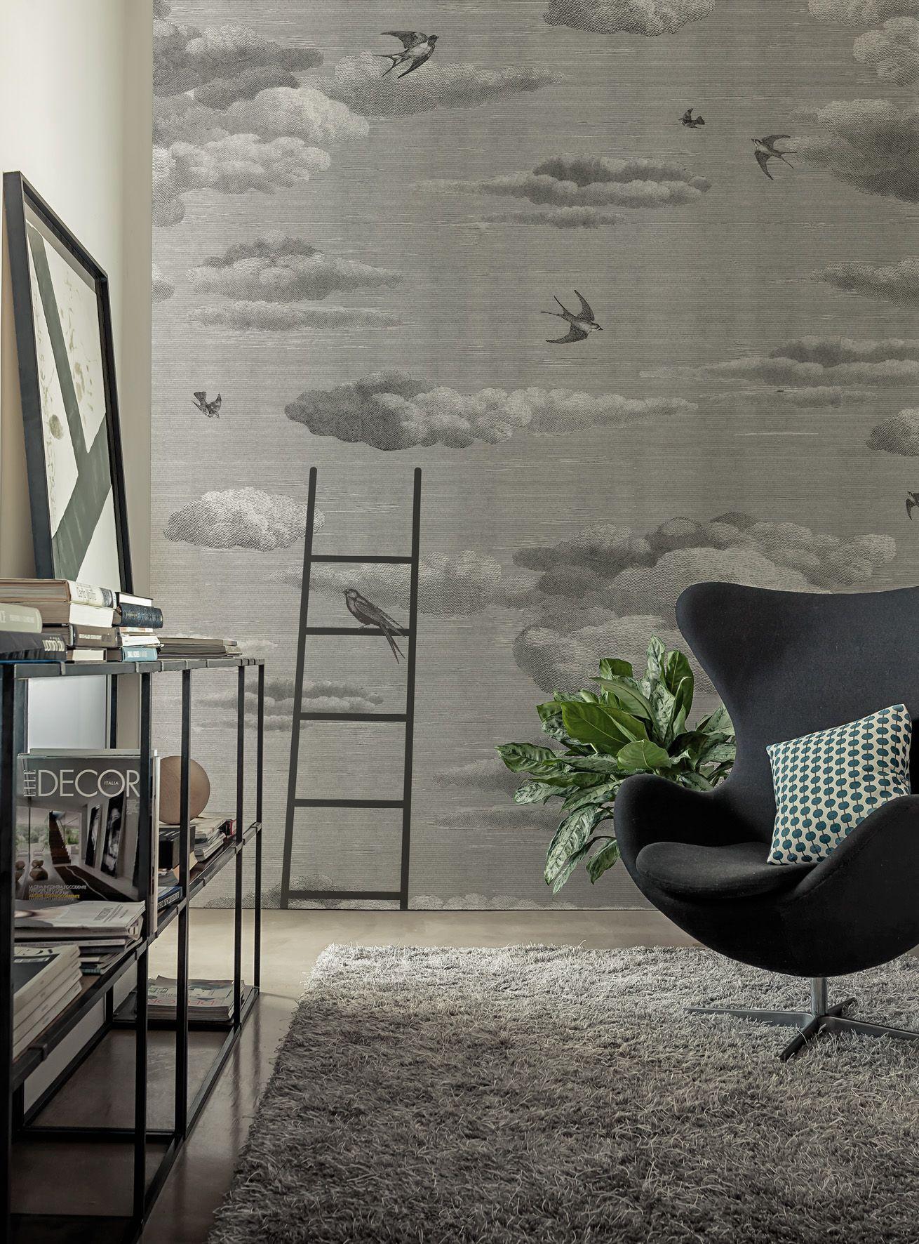 trompe l 39 oeil wallpaper primavera by wall dec design. Black Bedroom Furniture Sets. Home Design Ideas