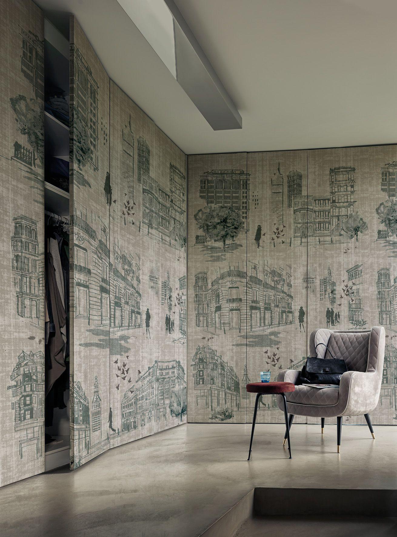 wallpaper times by wall dec design lorenzo de grandis. Black Bedroom Furniture Sets. Home Design Ideas