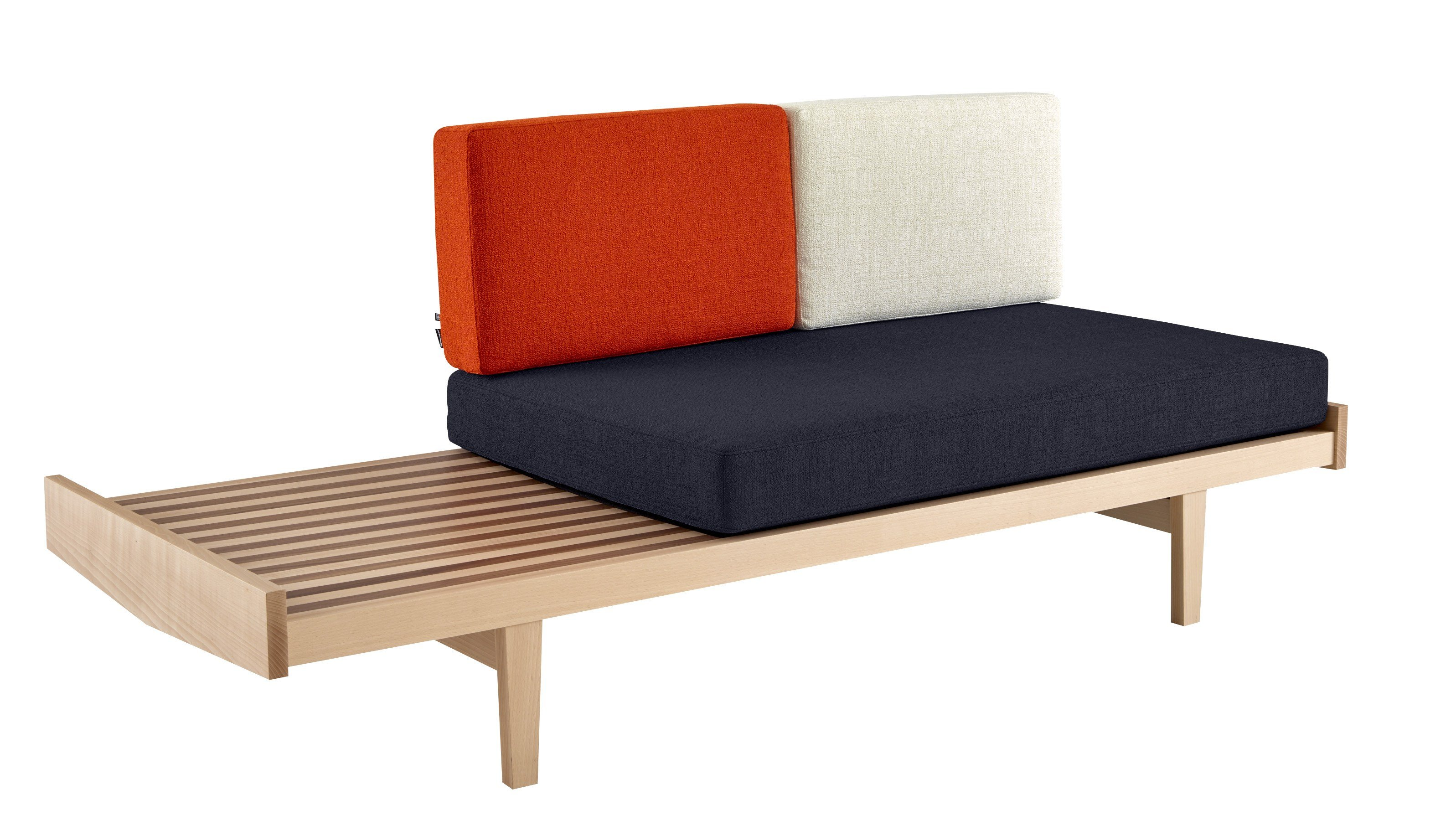 Oak sofa bed daybed by roset italia design pierre paulin for Interieur accessoires