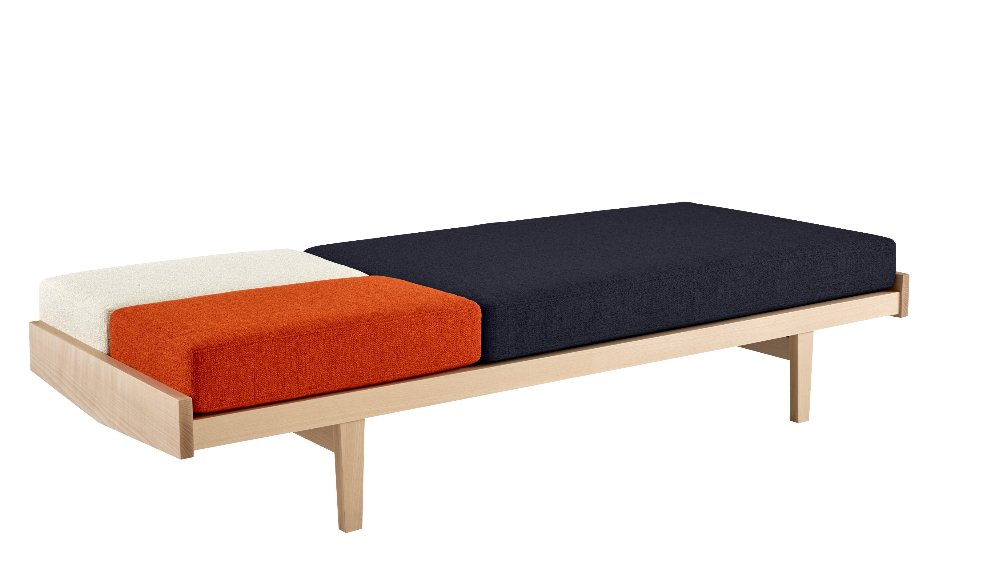 schlafsofa aus eichenholz daybed by roset italia design pierre paulin. Black Bedroom Furniture Sets. Home Design Ideas