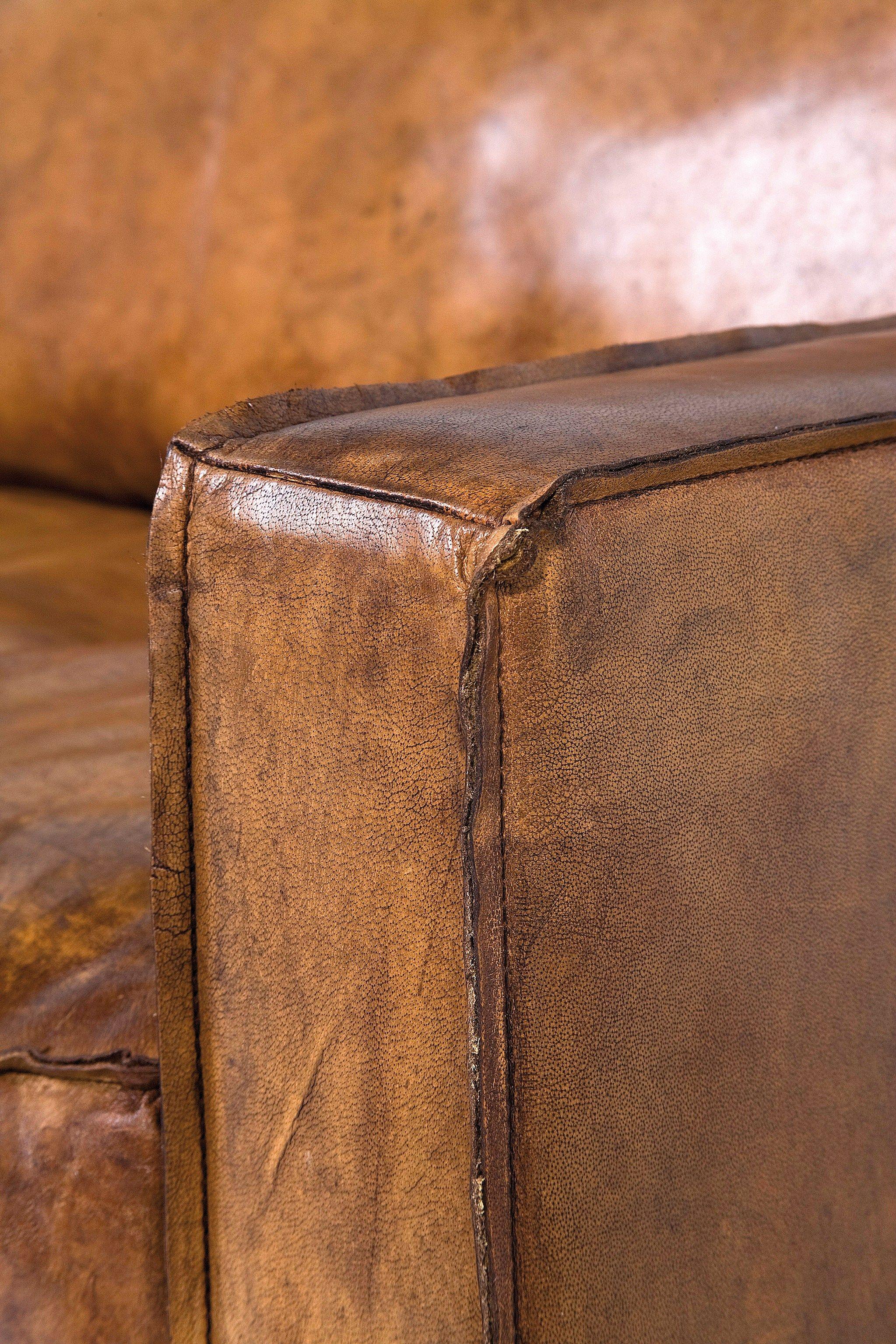 3 er sofa aus leder comfy buffalo brown by kare design for Sofa aus leder