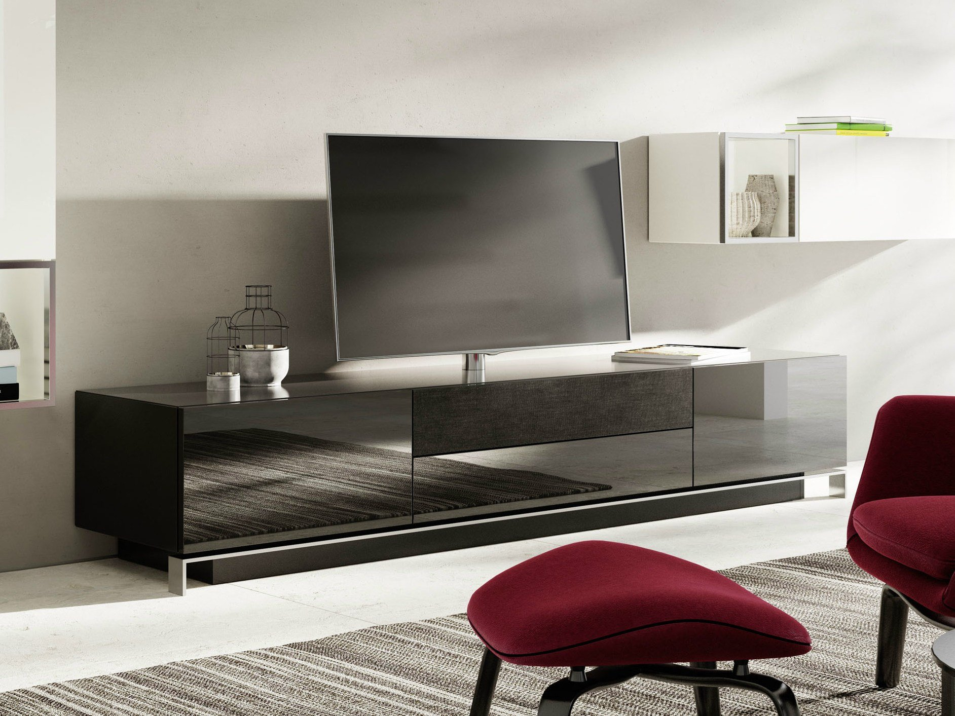 nexo meuble tv laqu by h lsta werke h ls. Black Bedroom Furniture Sets. Home Design Ideas