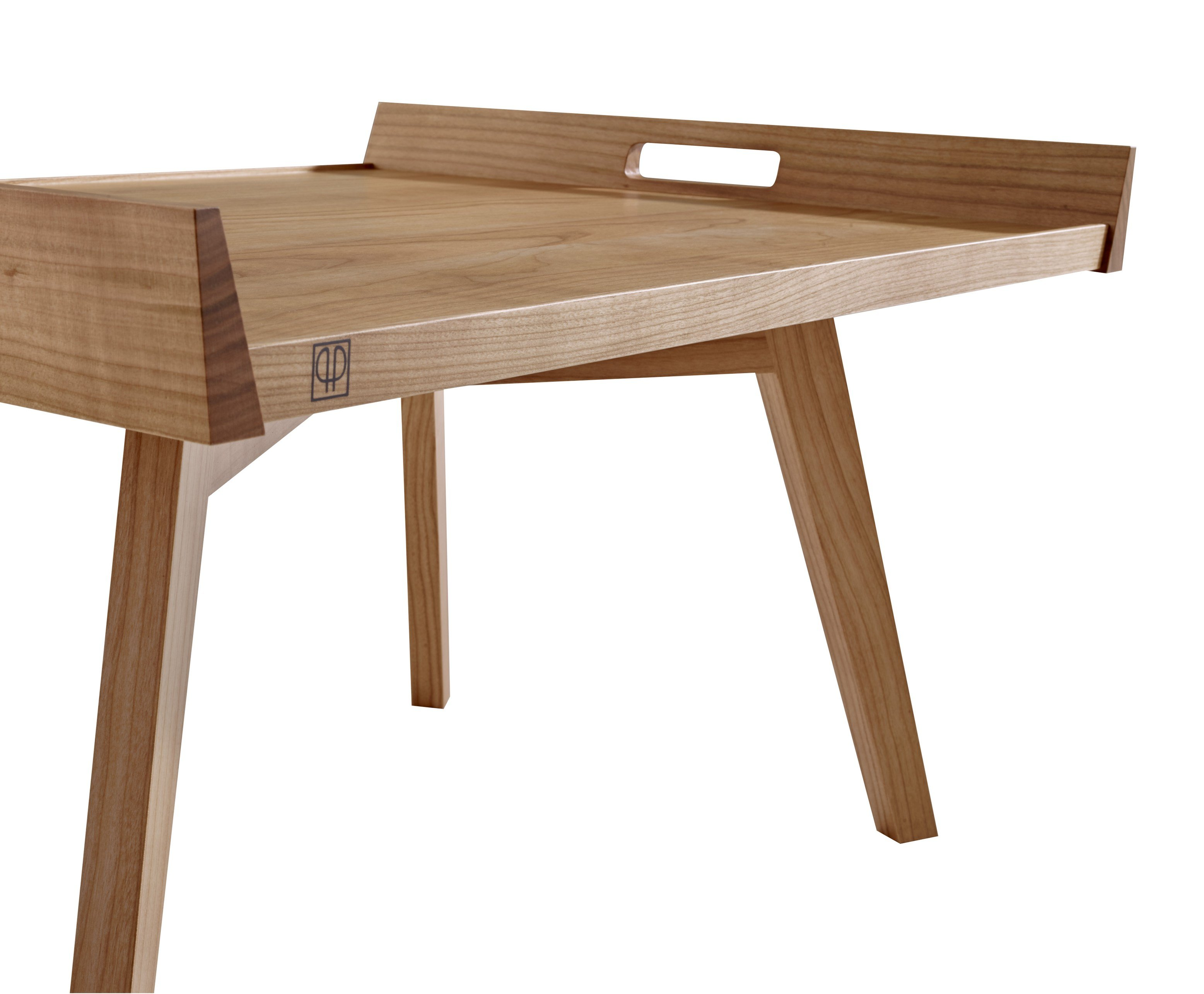 Cherry Wood Coffee Table Lupo By Roset Italia Design Pierre Paulin