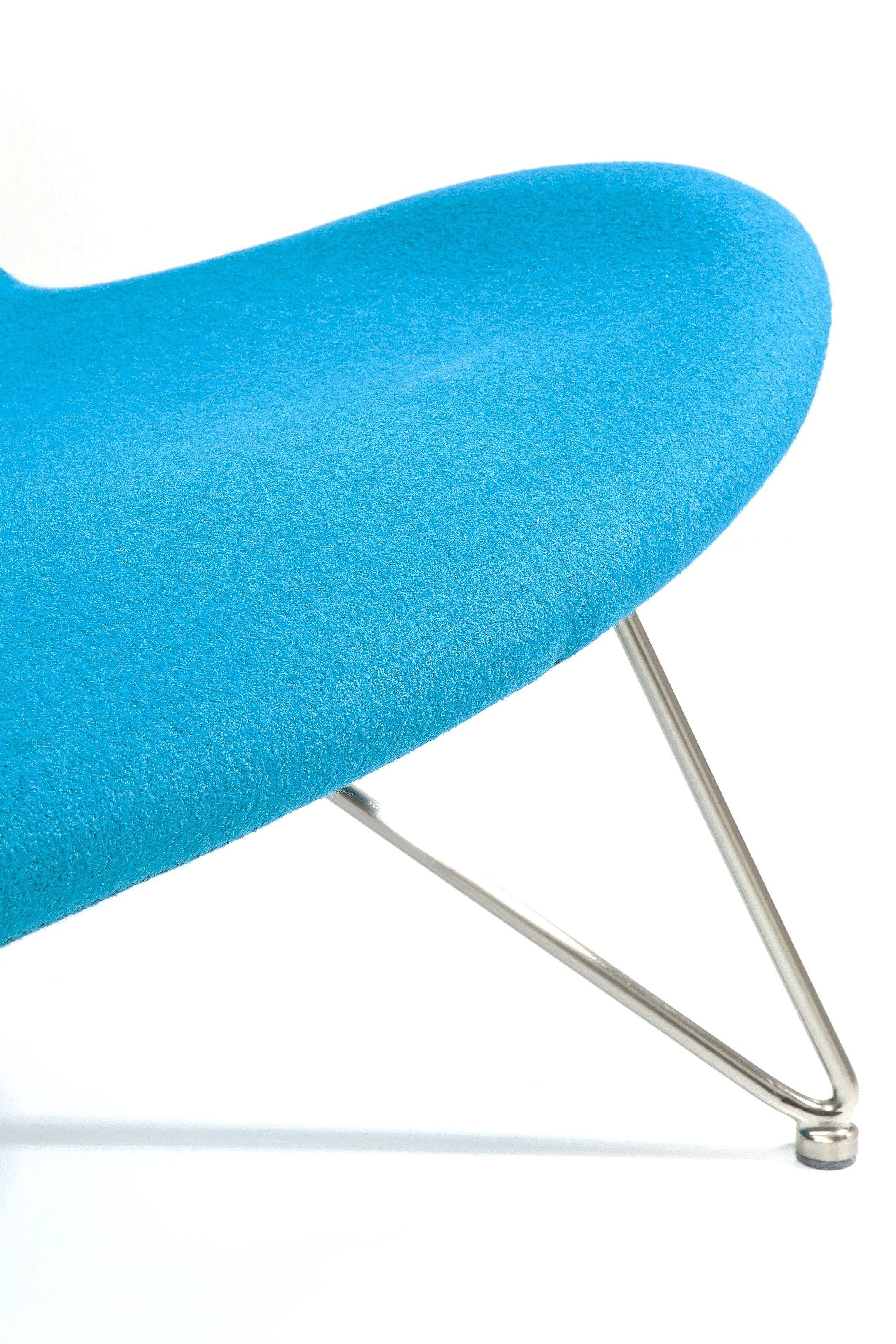 Canap 2 places en tissu avec dossier haut miami turquoise - Canape avec dossier haut ...