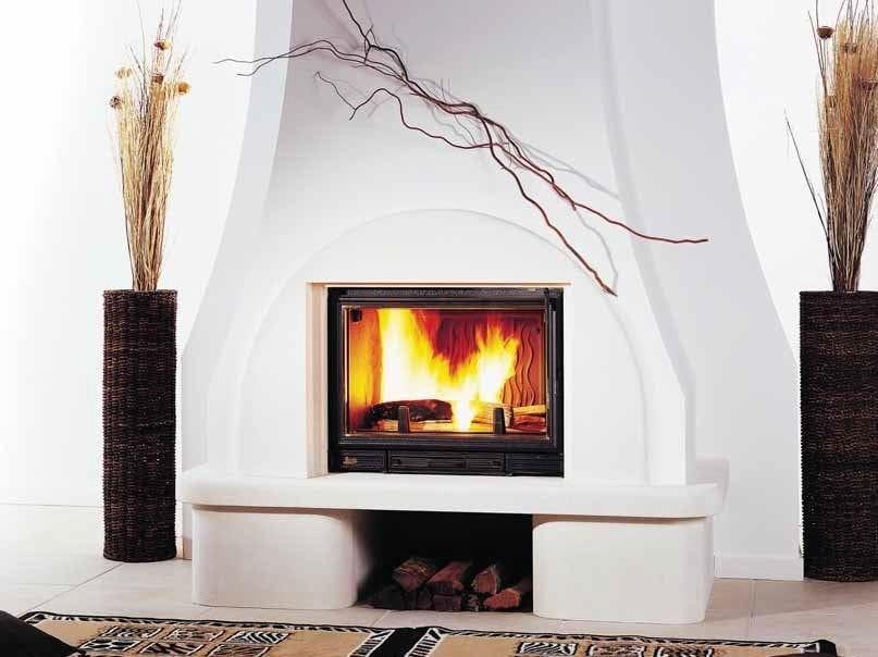 lareira a lenha embutida de parede cristal by cheminees seguin duteriez. Black Bedroom Furniture Sets. Home Design Ideas