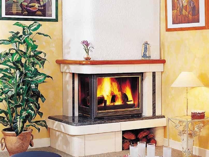 Chimenea de le a de esquina capri by cheminees seguin duteriez - Salones con estufas de lena ...