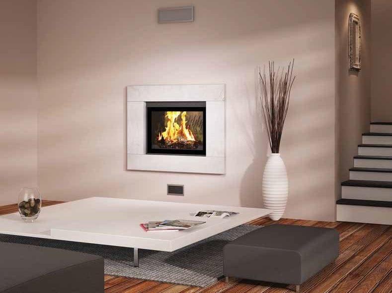 caminetto a legna incassato a parete cambay by cheminees seguin duteriez. Black Bedroom Furniture Sets. Home Design Ideas