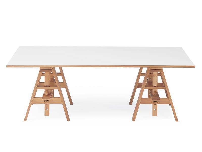 Bureau en stratifi leonardo by zanotta design achille for Bureau zanotta