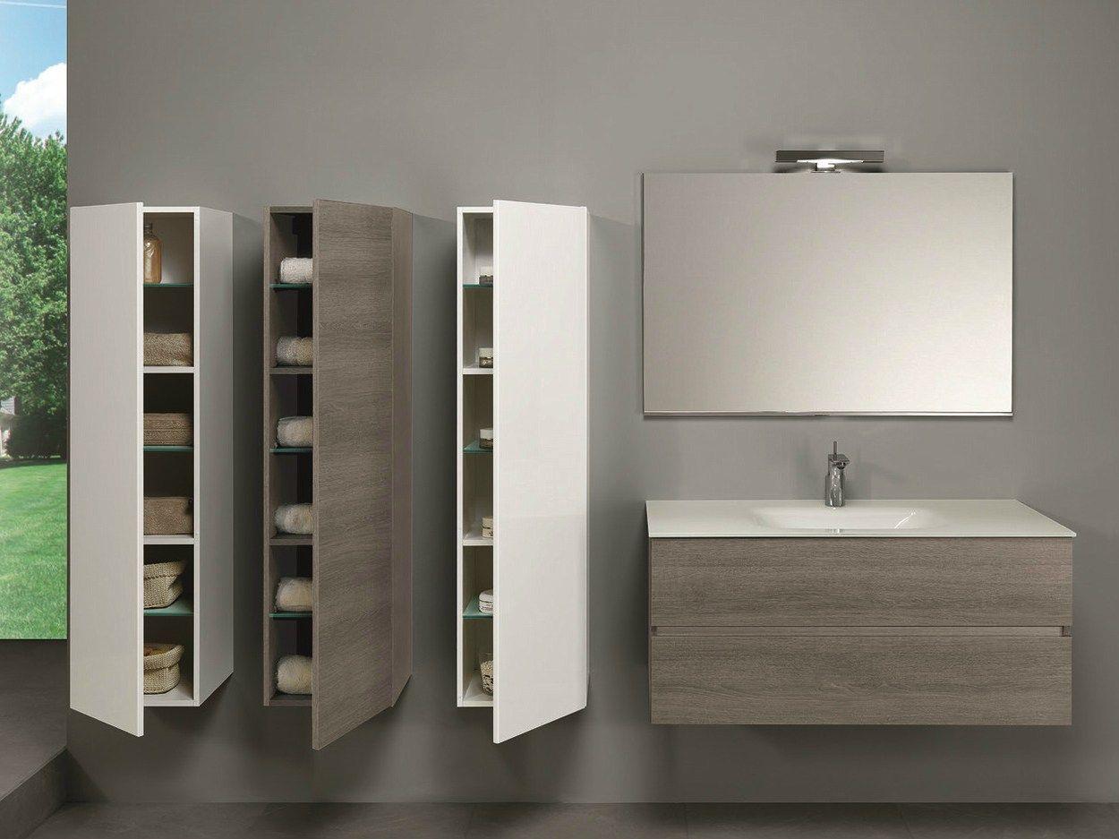 Mobile lavabo sospeso con cassetti HD.06 by Mobiltesino