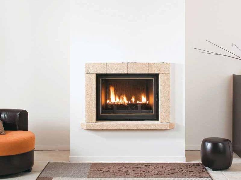 lareira a lenha embutida de parede malaga by cheminees seguin duteriez. Black Bedroom Furniture Sets. Home Design Ideas