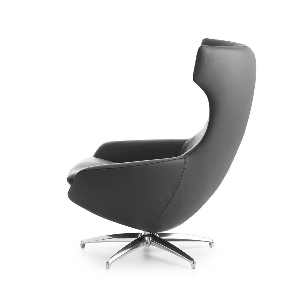 Caruzzo Leather Armchair By Leolux Design Frans Schrofer