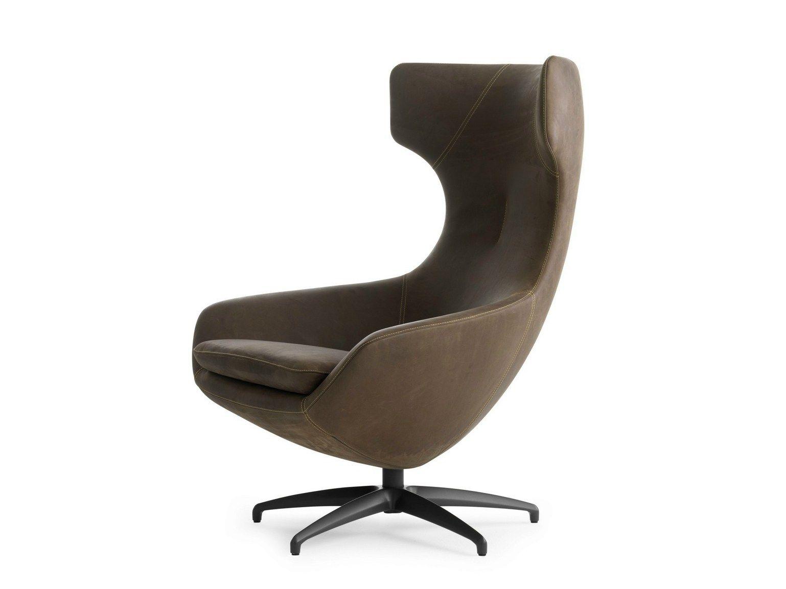 Caruzzo Leather Armchair By Leolux Design Frans Schrofer