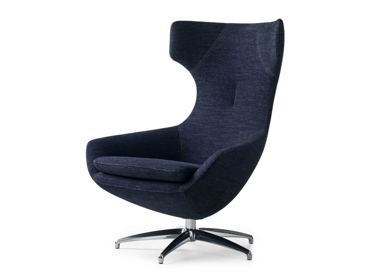 Caruzzo Fabric Armchair By Leolux Design Frans Schrofer