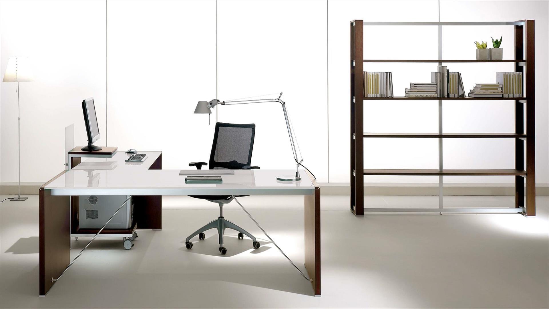 Estante de escritório alta de folheado de madeira ELECTA Estante de  #281E18 1920x1080