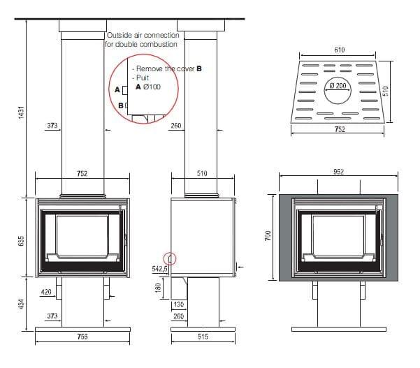 po le bois opale by cheminees seguin duteriez. Black Bedroom Furniture Sets. Home Design Ideas