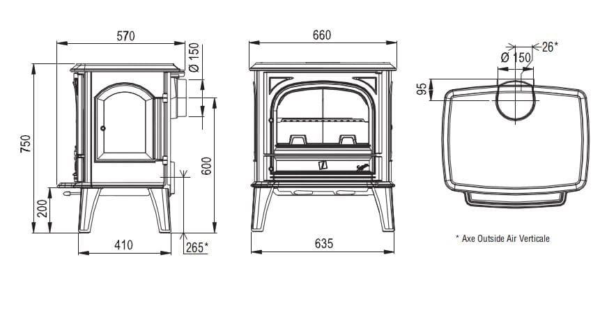 po le bois saphir by cheminees seguin duteriez. Black Bedroom Furniture Sets. Home Design Ideas