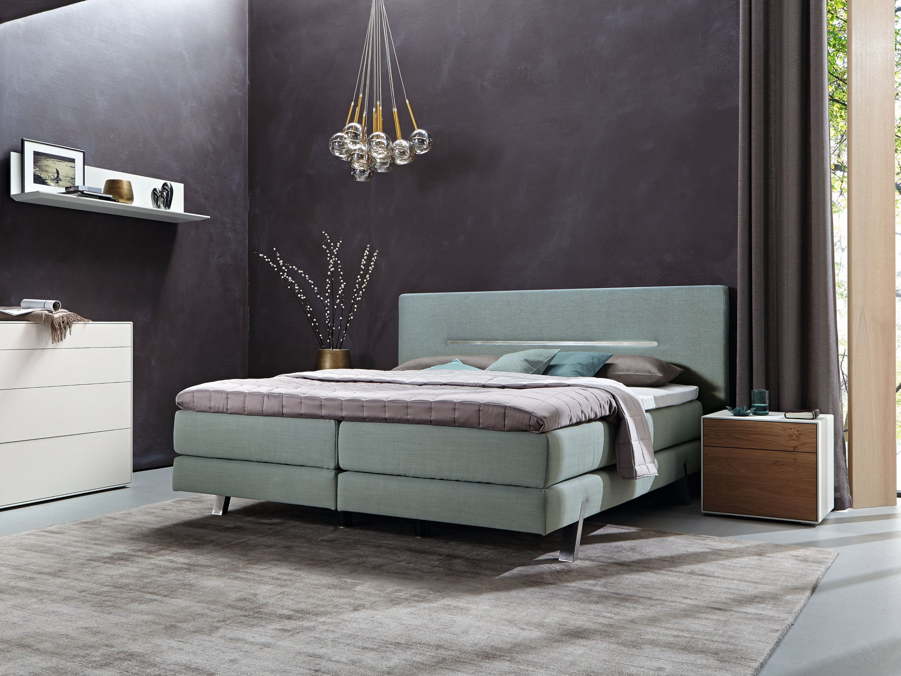 boxspring suite harmony upholstered bed by h lsta werke h ls. Black Bedroom Furniture Sets. Home Design Ideas