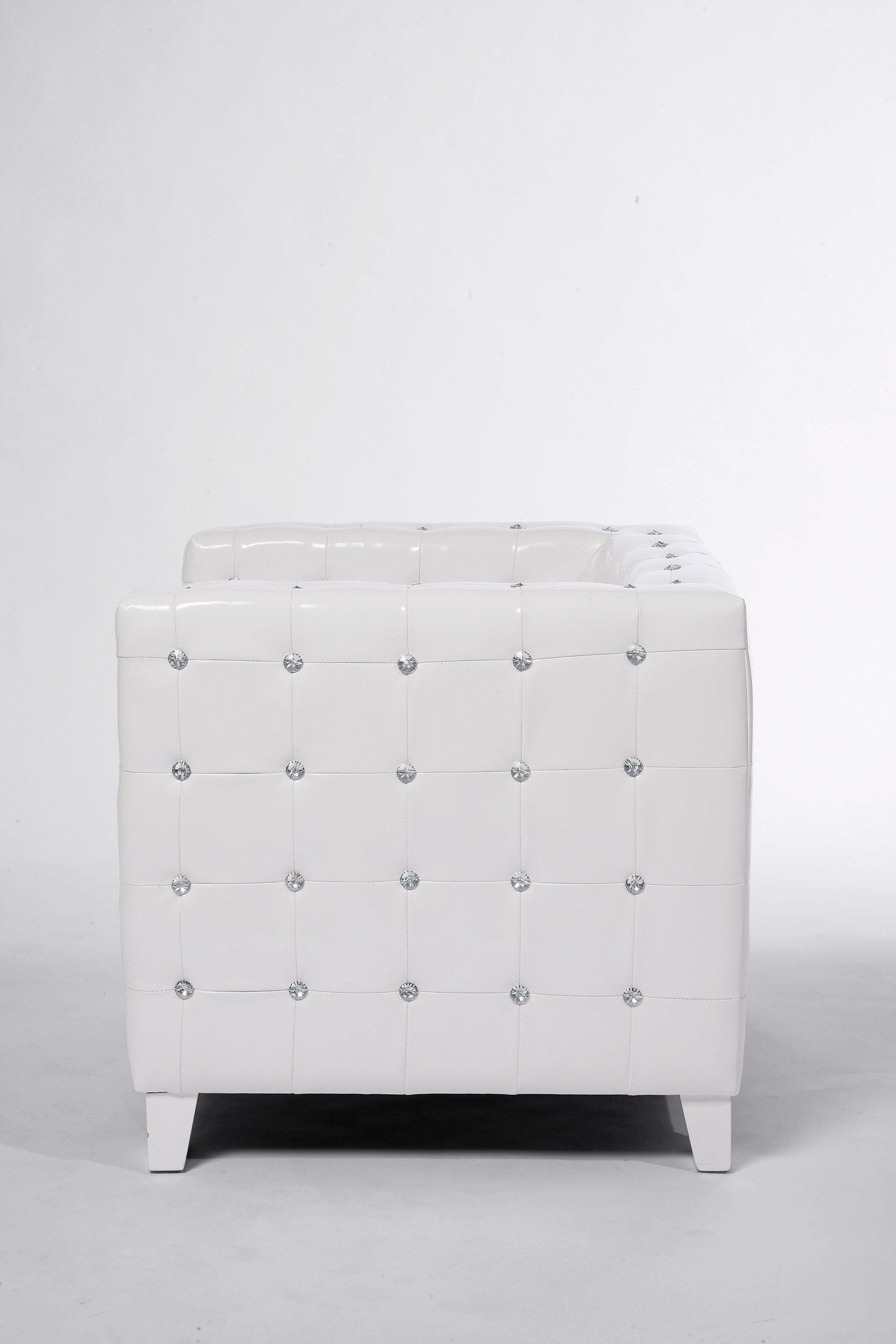 poltrona in pelle con braccioli shining cube by kare design. Black Bedroom Furniture Sets. Home Design Ideas