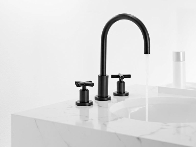 tara 3 hole washbasin tap by dornbracht design sieger design. Black Bedroom Furniture Sets. Home Design Ideas