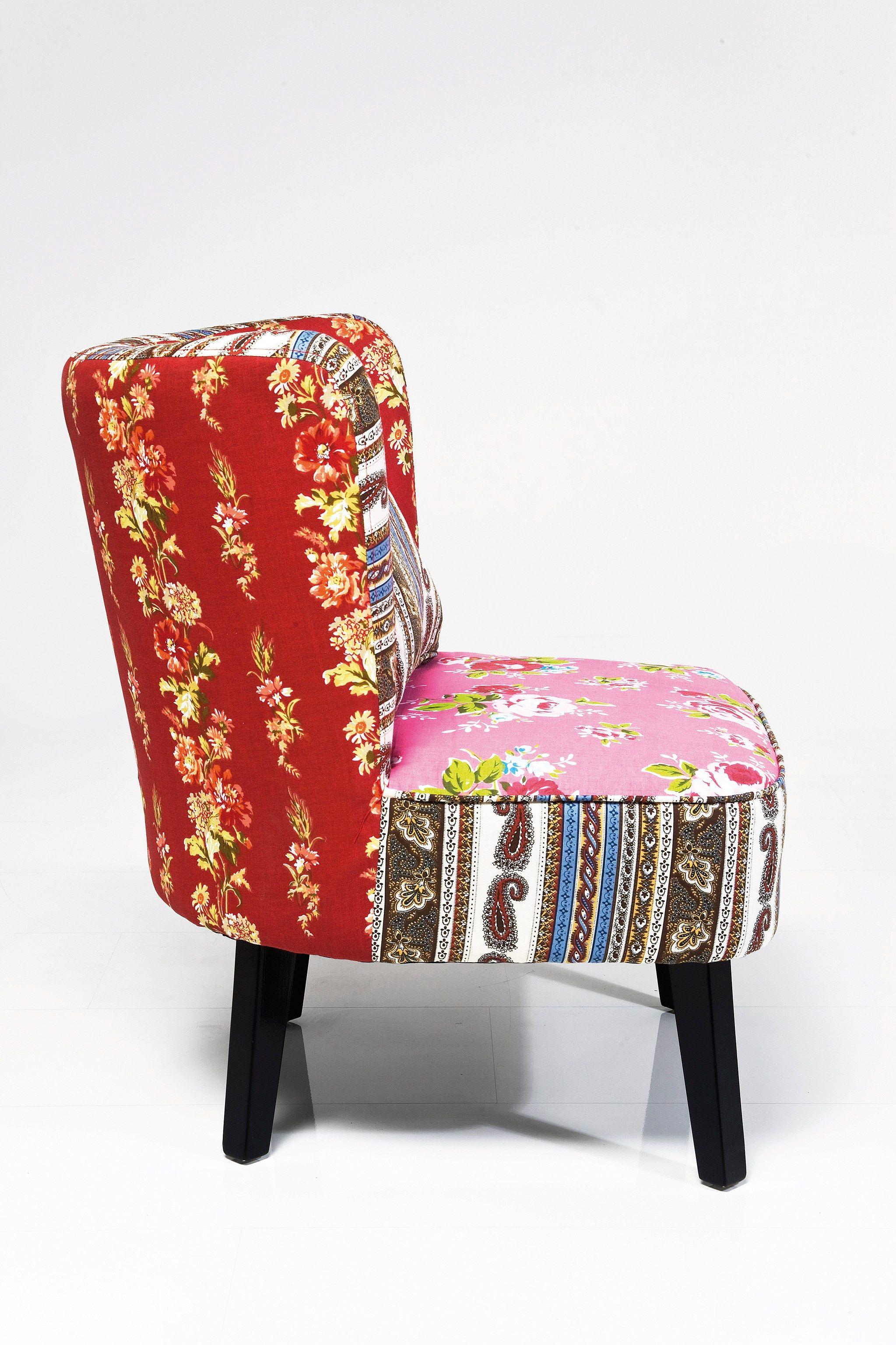 Poltrona imbottita in tessuto club patchwork by kare design for Poltrona kare design