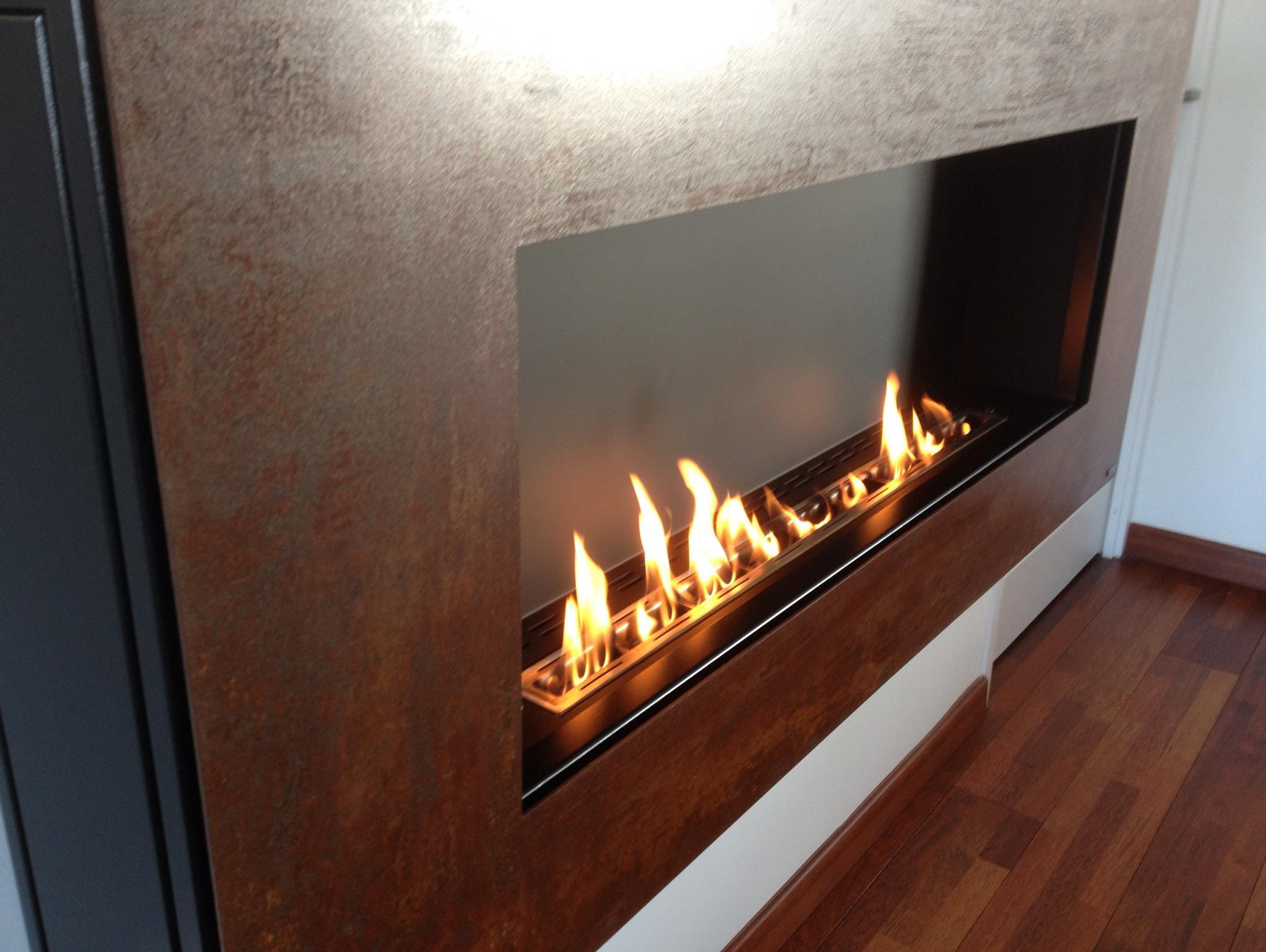 bioethanol wall mounted corten fireplace apollo i crea7ion by glammfire. Black Bedroom Furniture Sets. Home Design Ideas