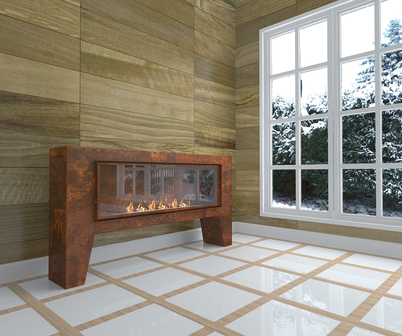 Outdoor bioethanol corten fireplace fogly i by glammfire for Cheminee exterieur weber