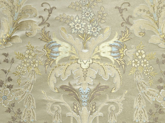 tissu d 39 ameublement damass verdi brocart by lelievre. Black Bedroom Furniture Sets. Home Design Ideas