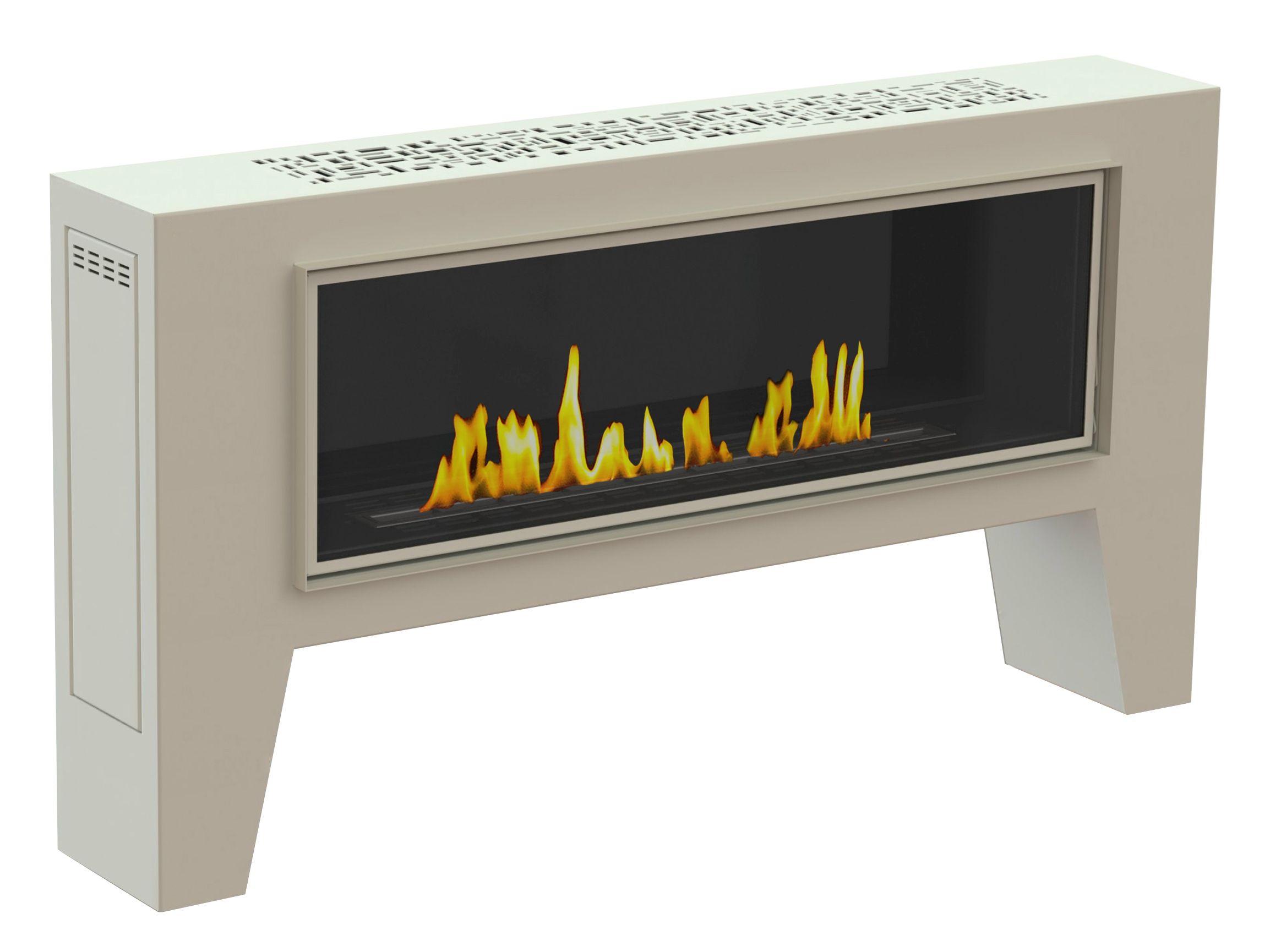 Caminetto da esterno in acciaio laccato a bioetanolo fogly iii collezione crea7ion by glammfire - Caminetto esterno moderno ...