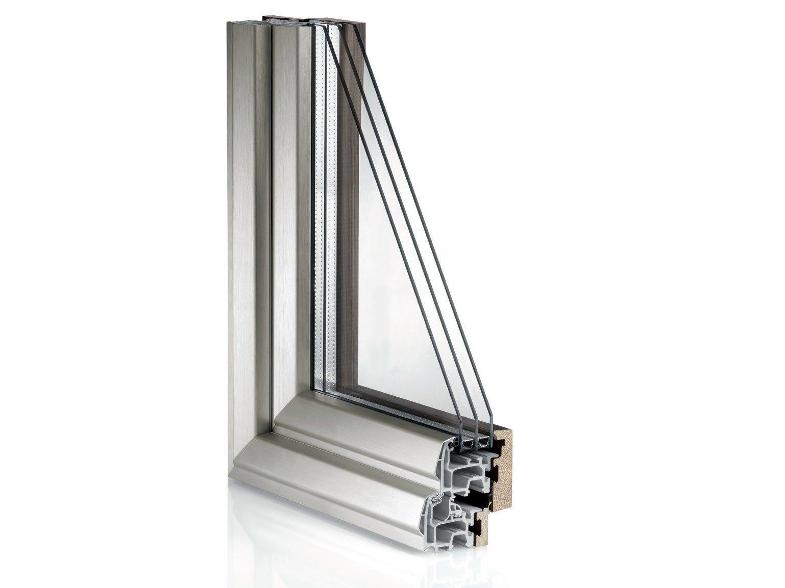 Fen tre en aluminium et bois avec ouvrant cach en fibex for Fenetre aluminium bois