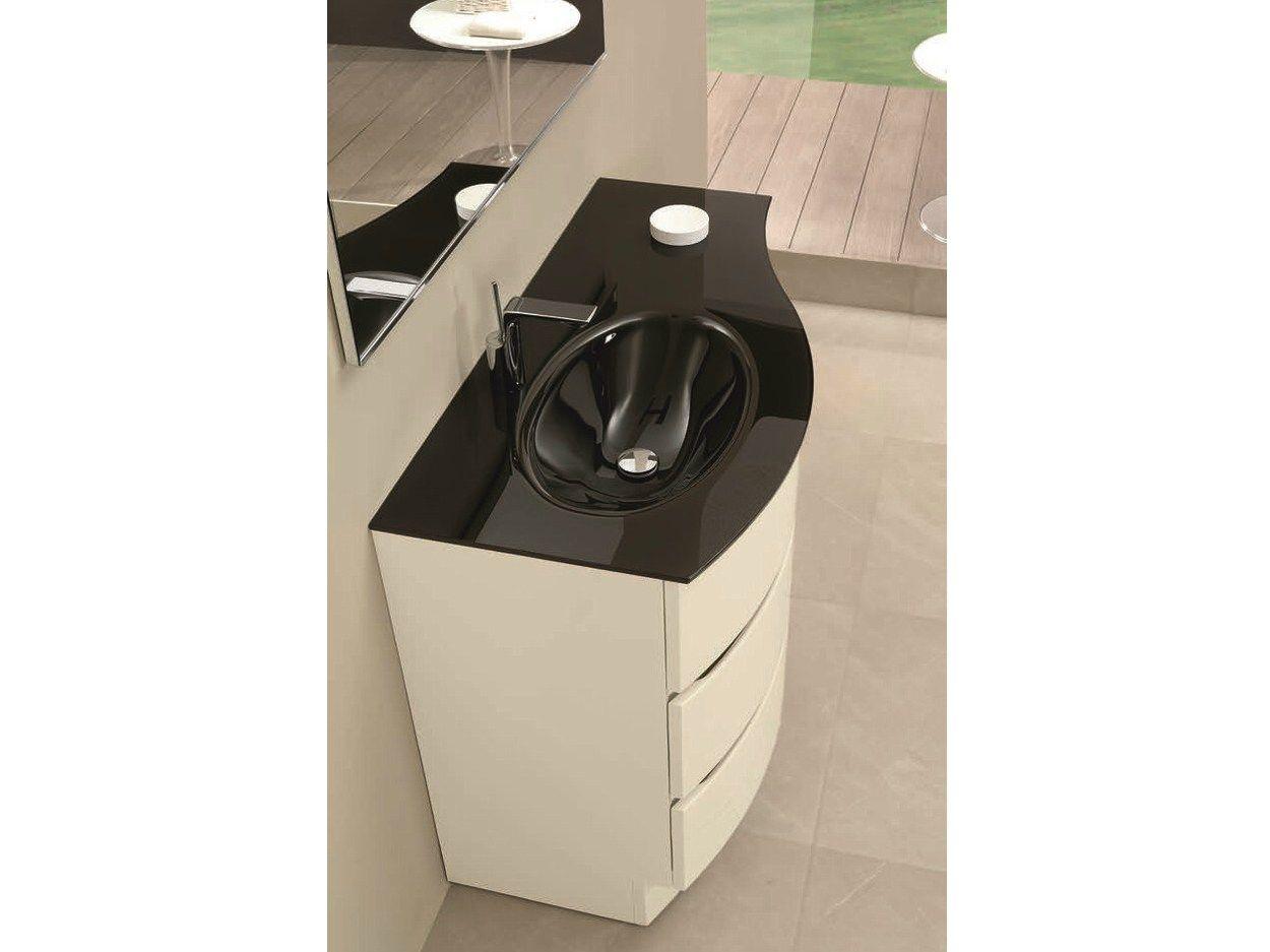 einzel waschtischunterschrank mit schubladen unico 71. Black Bedroom Furniture Sets. Home Design Ideas