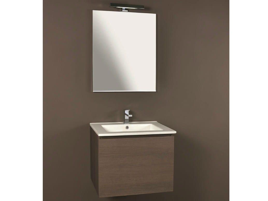 Mobile lavabo sospeso con cassetti link 04 by mobiltesino - Lavabo sospeso con mobile ...