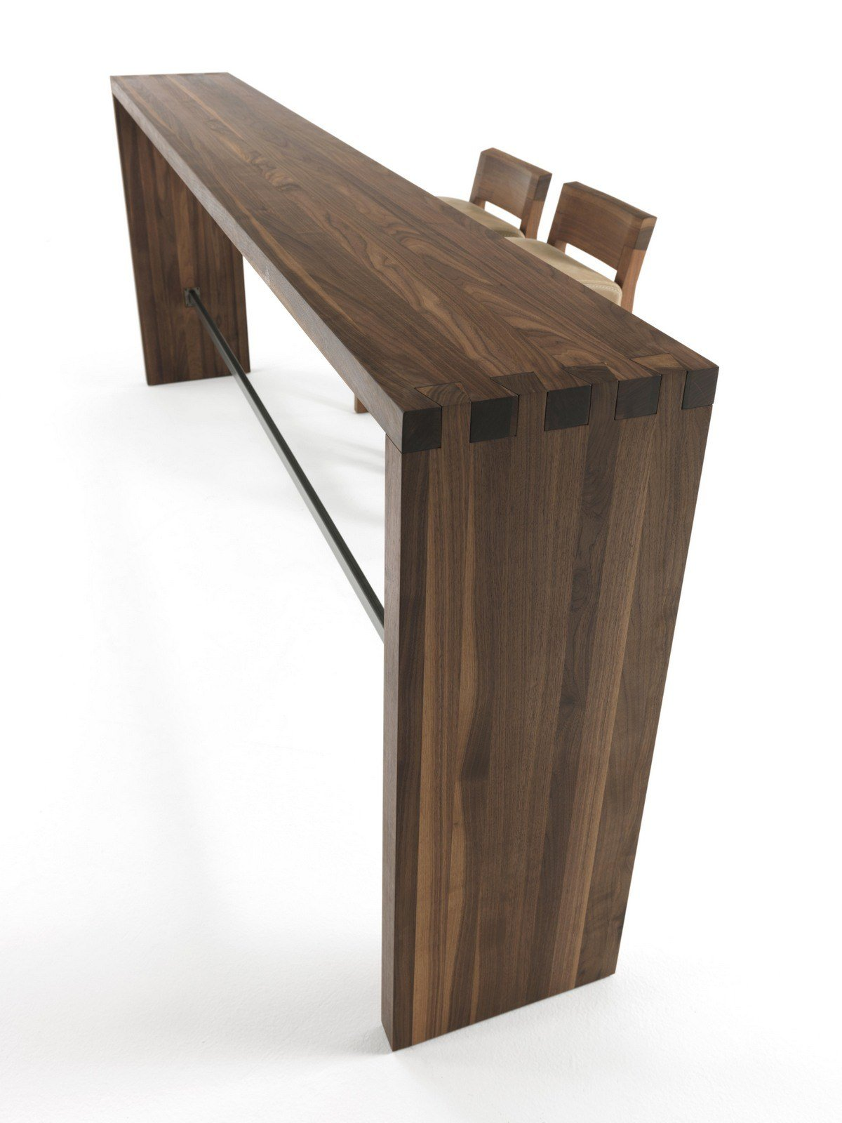 Rectangular solid wood high table CONSOLLE FRAME BAR by